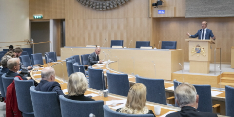 Minister for Justice Morgan Johansson (Social Democratic Party) answered questions. At the rostrum Mikael Oscarsson (Christian Democrats).